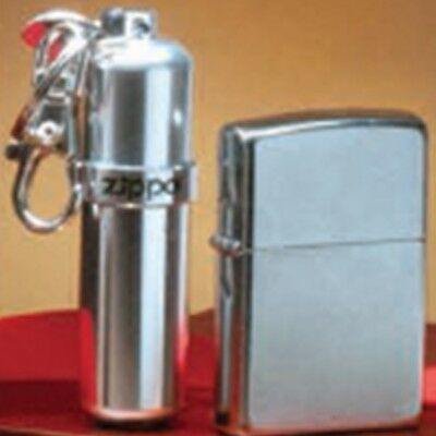 Zippo Street Chrome Finish Windproof Lighter and Fuel Canister Gift Set 29788