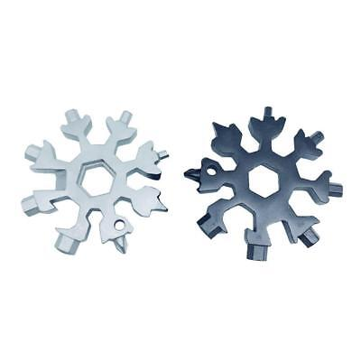 18-in-1 Multi-tool Combination Compact Portable Outdoor Snowflake Tool Card