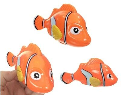 Clown Fish Wind Up Water Tub Bath or Pool Toy Swimmer