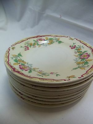"""Knowles Semi - Vitreous China Lot of 9 6"""" SAUCERS #488"""
