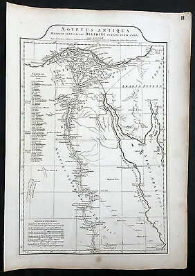 1765 D Anville Large Antique Map of Egypt, Red Sea