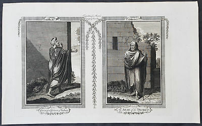 1778 John Moore Antique Print of North African People of Barbary Coast & Bedouin