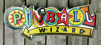PINBALL WIZARD LED Metal Sign Vintage Sports Arcade Games Child`s Room Decor New