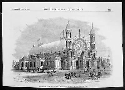 1870 ILN Antique Print NSW Exhibition Building, Sydney