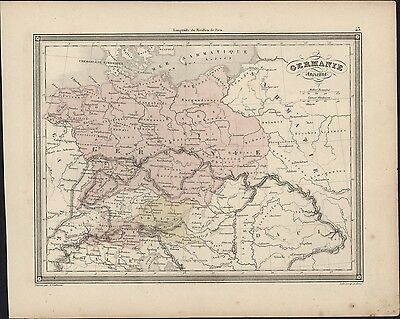 1847 Vuillemin Antique Map of Ancient Germany