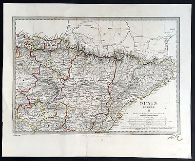 1831 SDUK Antique Map of North East Spain
