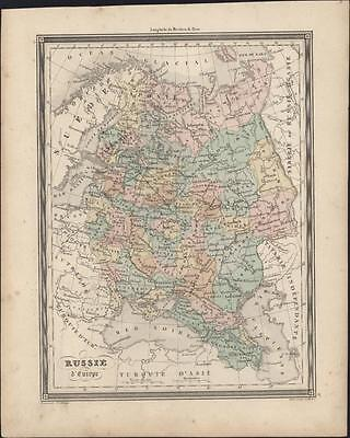 1847 Vuillemin Antique Map of Russia in Europe