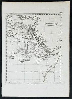 1799 Jean Nicolas Buache Original Antique Map of Horn of Africa, Red Sea
