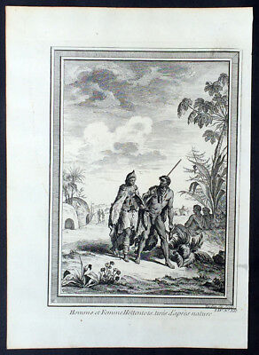 1755 Prevost Antique Print of Khoikhoi or Khoi People of South Africa Hottentots