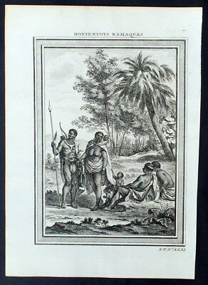 1755 Prevost & Schley Antique Print Ethnic Group South Africa Namibia & Botswana