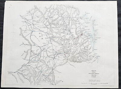 1861 Arrowsmith Rare Antique Map of Queensland, Australia - Brisbane to Warwick