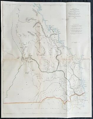 1858 Arrowsmith Rare Map of Queensland, NSW Border, Moreton Bay Colony Australia