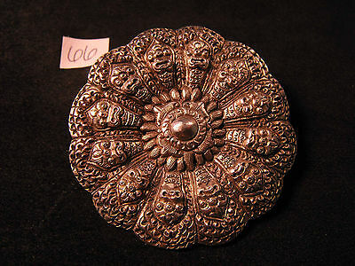 Classic French Indo China Indochina Sterling Silver Brooch Pin Jewelry Dynasty