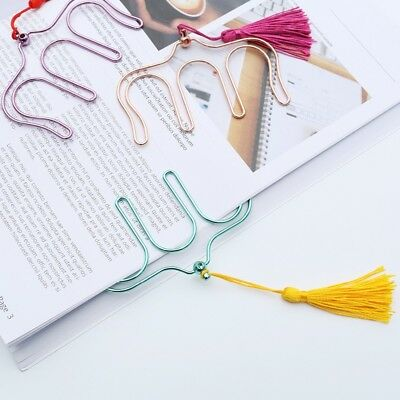 Creative Hollow Colors Electroplated Metal Paper Clips Music Book Clip Bookmark