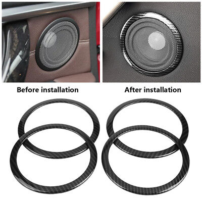 Carbon Fiber Car Door Speaker Ring Trim Cover for BMW 3 Series F30 GT F34 13-18