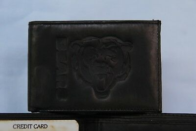 CHICAGO BEARS   Leather BiFold Wallet   NEW  black 2 sb