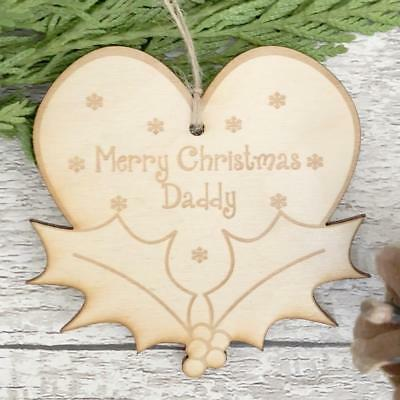 Best Dads Promoted To Grandad Wooden Hanging Heart Plaque Gift LPA3-25