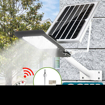 60W 48LED Solar Light Outdoor Wall Street Light Garden Lamp W/ Remote Controller