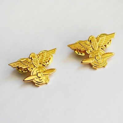 Pair of WW2 China Chinese Air Force KMT Aviation Branch Insignia Badge-50043
