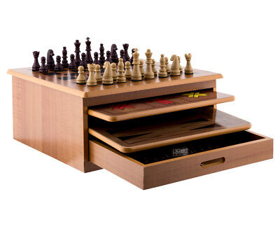 10-in-1 Wooden Chess Board Game Set