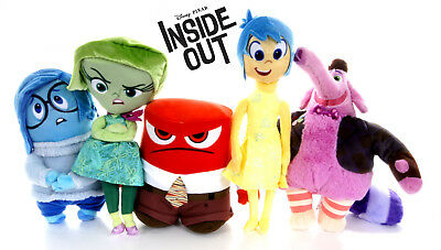 "New Official Disney 10"" Inside Out Plush Soft Toys Anger Bing Bong Disgust Joy"