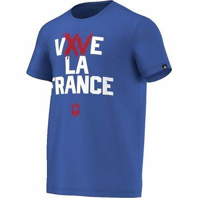ADIDAS france rugby t-shirt - Vive la France [royal] - Large