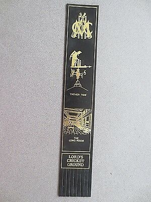 Leather BOOKMARK MCC Lord's Cricket Ground Father Time The Long Room Black