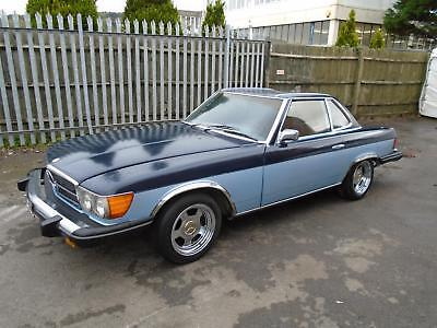 Mercedes Benz 450 Sl 2 + 2 Convertible(1974) Met Blue! 98% Rustfree Car! Value!