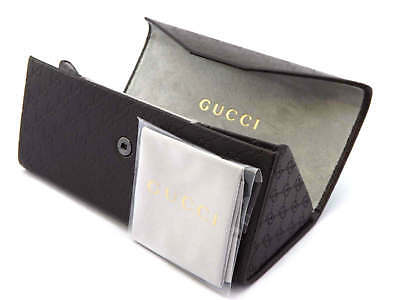GUCCI -  Medium Sized Triangular Sunglasses Case and Cloth - Brown