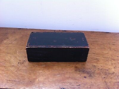 SMALL DECORATIVE ANTIQUE PAINTED WOODEN BOX 6 by 3 inches