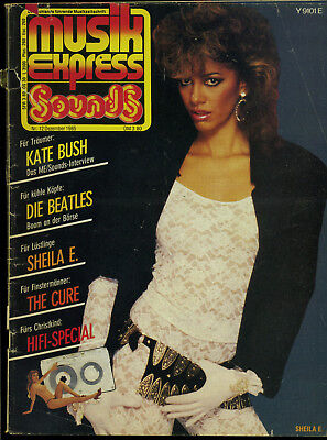 Musik Express Sounds -- 1985 - Nr. 12 -- Kate Bush -Beatles - Sheila E. --
