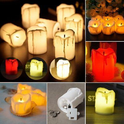 12PCS Flameless LED Battery Flickering Tea Light Candles Wedding XMAS Decor AMC