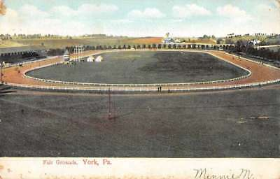 York Pennsylvania panoramic aerial view Fair Grounds antique pc Z50957