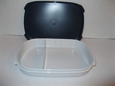 TUPPERWARE #2778 Large Adjustable Divided Rectangular Sandwich LUNCH BOX ~ NEW