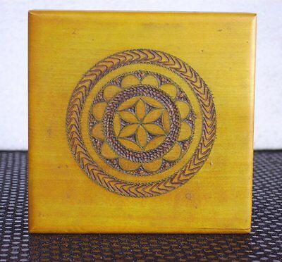 Vtg Handmade Carved Stash Box Decorative Wooden Wood Polish Jewelry Trinket