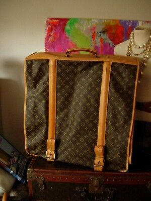 Rare Authentic Vintage LOUIS VUITTON Long GARMENT BAG Luggage Keepall Accessory