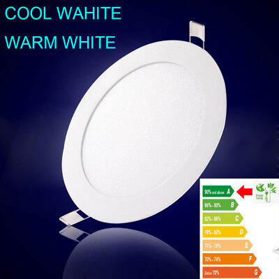 Ultra Slim Recessed LED Flat Panel Ceiling Light Round&Square Bulb Dimmable Lamp