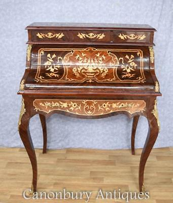 French Empire Roll Top Desk Writing Table Bureau De Dame Inlay