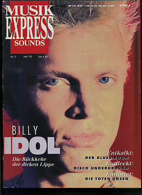 Musik Express Sounds -- 1990 - Nr. 5 -- Billy Idol -- Toten Hosen --
