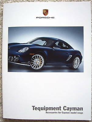 Porsche Official Cayman & S Accessories Tequipment Brochure 2007 Usa Edition