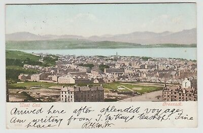 """""""West End, Greenock"""" in Very Early View, Publ.Unknown:~1900 U/B PPC, Used 1903."""