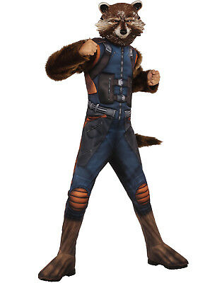 Guardians Of The Galaxy Vol. 2 Boys Deluxe Muscle Chest Rocket Raccoon Costume