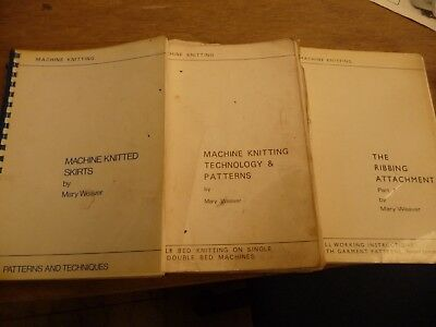 Knitting Machine books MARY WEAVER machine knit skirts Tech & pattern rib attac