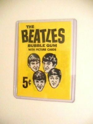 The Beatles rare cards original gum wrapper 1964