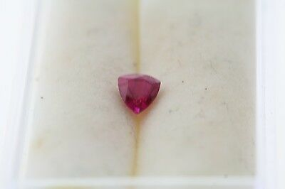 0.30ct Ct Trillion Coupe Ample Labo Synthétique Rubis 4.0 X 4.0 X 4.0mm
