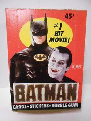 Batman movie cards rare full box 1989