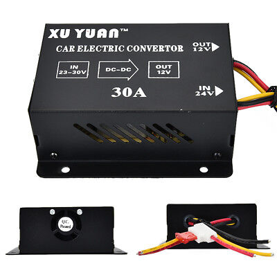 Voiture 30A DC24V à 12V Power Supply Inverter Transformateur Convertisseur Auto