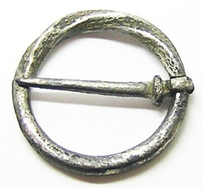 Nice 13th - 14th century AD Excavated Medieval Tinned Bronze Ring Brooch Durham