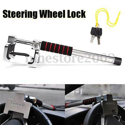Universal Rotary Steering Wheel Lock Anti Theft Security Car Truck SUV Aluminum