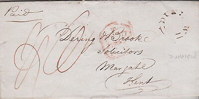 1832 Stebbing Essex Letter by Thomas Jesper with rare DUNMOW UDC to Margate Kent